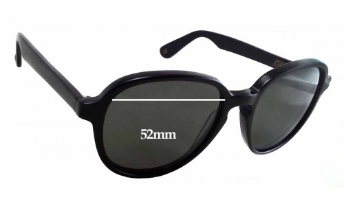 Graz - Geeg 046-1 Replacement Sunglass Lenses - 52mm wide - 47mm tall