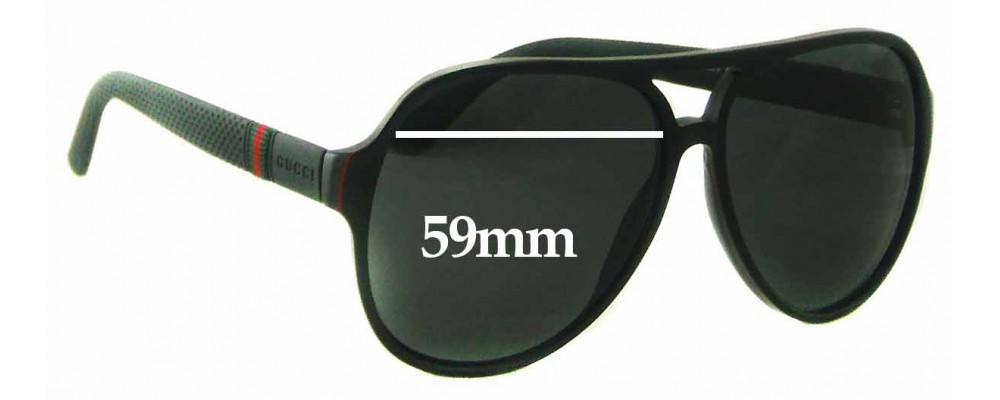 6a051110e44 Gucci GG 1065 S Replacement Sunglass Lenses - 59mm wide