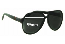 Gucci GG 1065/S Replacement Sunglass Lenses - 59mm wide