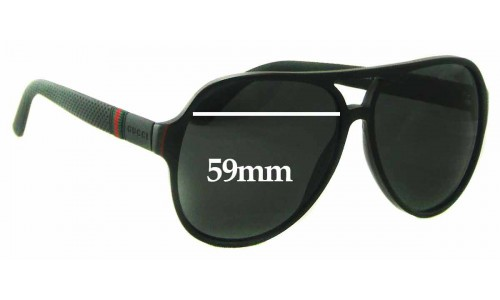Sunglass Fix Replacement Lenses for Gucci GG 1065/S - 59mm wide