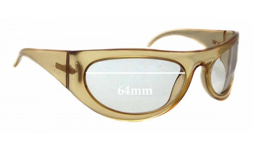 Gucci GG 1429/S Replacement Sunglass Lenses - 64mm wide