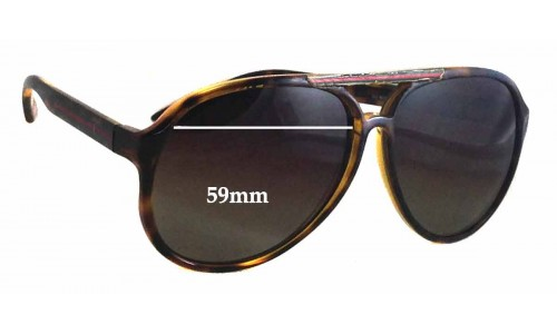 Sunglass Fix Replacement Lenses for Gucci GG 1627/S - 59mm wide