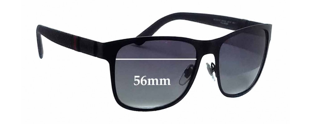 Gucci GG2247/S Replacement Sunglass Lenses - 56mm wide