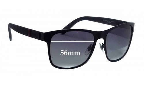 Sunglass Fix Replacement Lenses for Gucci GG2247/S - 56mm wide
