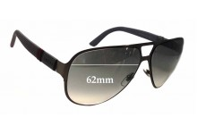 Gucci GG2252/S Replacement Sunglass Lenses - 62mm Wide