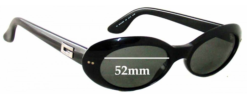 Gucci GG2413-N-S Replacement Sunglass Lenses - 52mm Wide