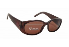 Gucci GG2451/S Replacement Sunglass Lenses - 53mm wide x 31mm tall