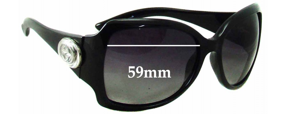 Gucci GG 2938/N/S Replacement Sunglass Lenses - 59mm wide