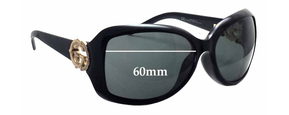 Gucci GG3068/F/S Replacement Sunglass Lenses - 60mm wide