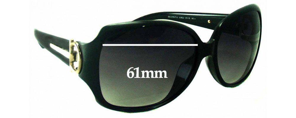 Gucci GG3115/F/S Replacement Sunglass Lenses - 61mm Wide