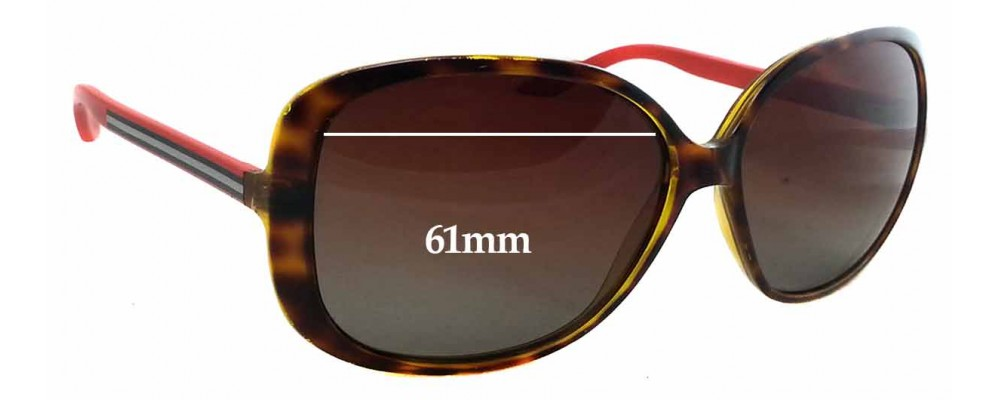 Gucci GG 3157/S Replacement Sunglass Lenses - 61mm