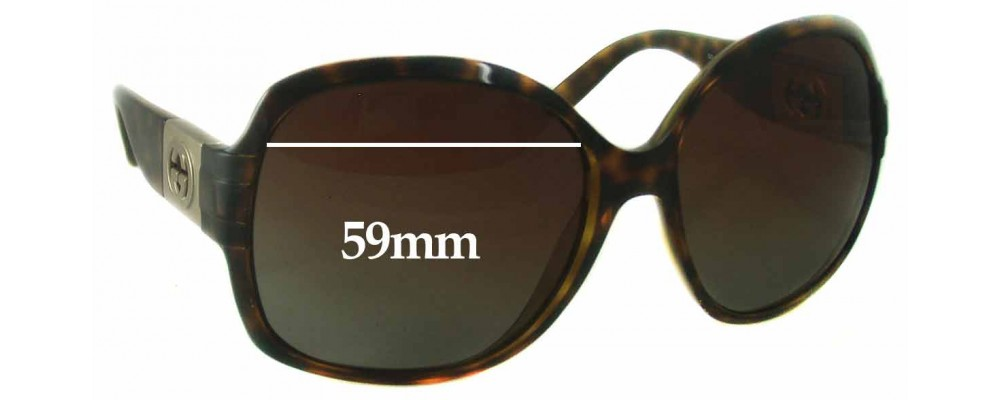 Gucci GG 3169S Replacement Sunglass Lenses - 59mm wide