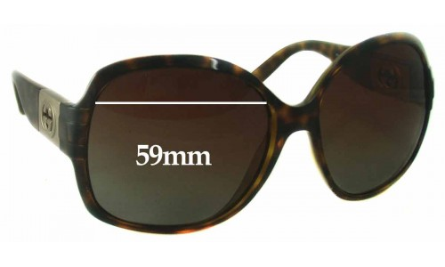 Sunglass Fix Replacement Lenses for Gucci GG 3169S - 59mm wide