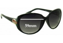Gucci GG 3174/F/S Replacement Sunglass Lenses - 59mm wide