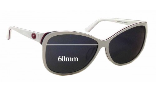 Gucci GG 3175/F/S Replacement Sunglass Lenses - 60mm wide x 50mm tall