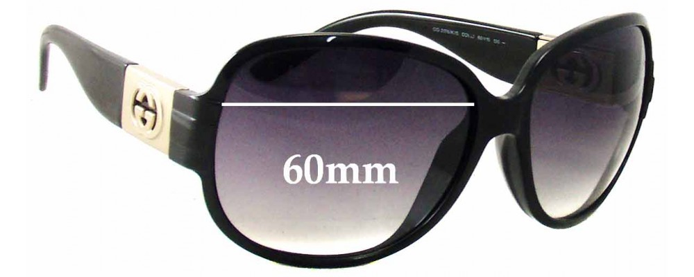 Gucci GG3176/K/S Replacement Sunglass Lenses - 60mm wide