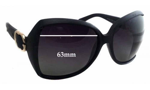 Gucci GG 3512/S Replacement Sunglass Lenses - 63mm wide x 56mm tall