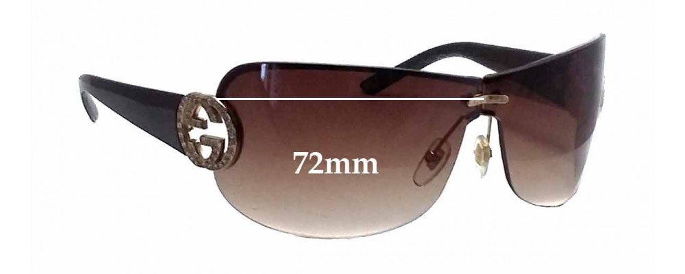 Gucci GG4224S Replacement Sunglass Lenses - 72mm wide