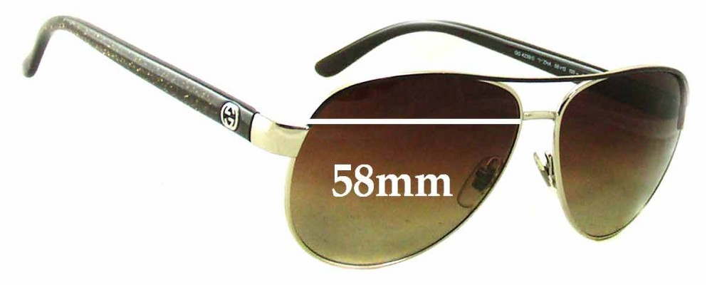 Gucci GG 4239/S Replacement Sunglass Lenses - 58mm wide