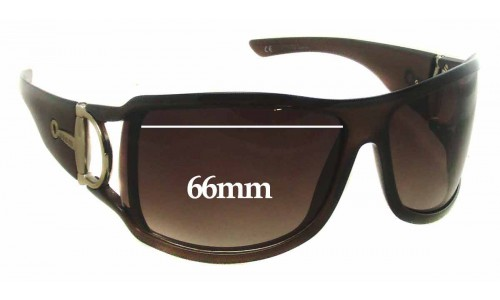Sunglass Fix Replacement Lenses for Gucci GTH5U - 66mm wide
