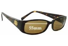 Guess GU6572 Replacement Sunglass Lenses - 55mm Wide