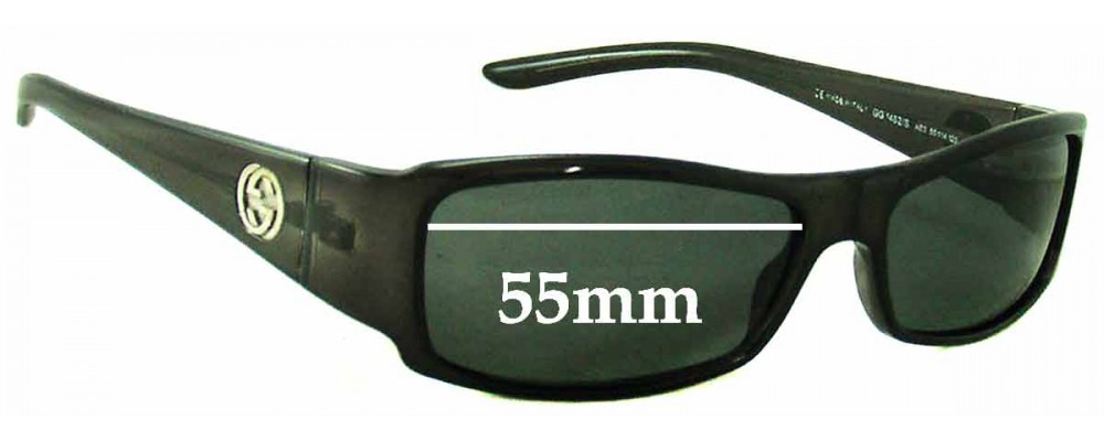 Gucci GG1482/S Replacement Sunglass Lenses - 55mm Wide