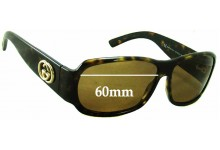Gucci GG2935/S Replacement Sunglass Lenses - 60mm Wide