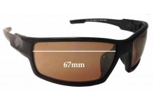 Harley Davidson Wiley X H-D Wolf Replacement Sunglass Lenses - 67mm wide