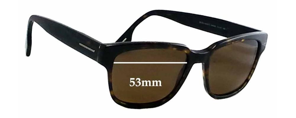 2da437739bb Hugo Boss 0406 S Replacement Sunglass Lenses - 53mm wide