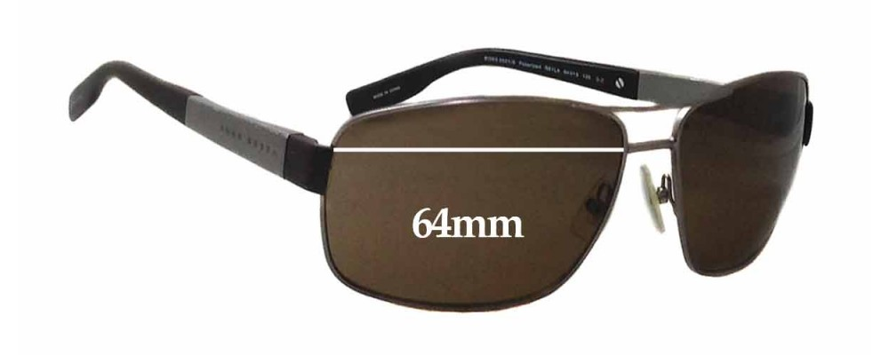 7b3337ca18bd Hugo Boss 0521-S Replacement Lenses 64mm by The Sunglass Fix™