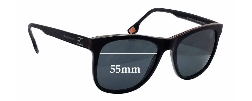 7b90975357 Hugo Boss Orange BO Sun Rx 07 Replacement Sunglass Lenses - 55mm wide
