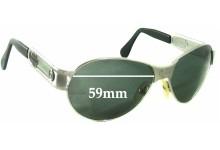 Harley Davidson HDZ 002 Replacement Sunglass Lenses - 59mm wide