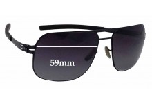 IC! Berlin Alex Replacement Sunglass Lenses - 59mm wide