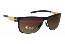 IC! Berlin Magomed J Replacement Sunglass Lenses - 61mm wide