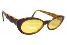 Jean Lafont Elite 272 Replacement Sunglass Lenses - 51mm wide