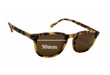 Jeff Banks / Specsavers JB 24 Replacement Sunglass Lenses - 50mm wide x 37.5mm tall