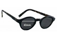 John Varvatos V756 Replacement Sunglass Lenses - 42mm wide