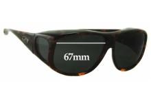 Jonathan Paul 0914 Aviator 002 Replacement Sunglass Lenses - 67mm Wide