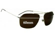 John Varvatos V746 Replacement Sunglass Lenses - 60mm Wide