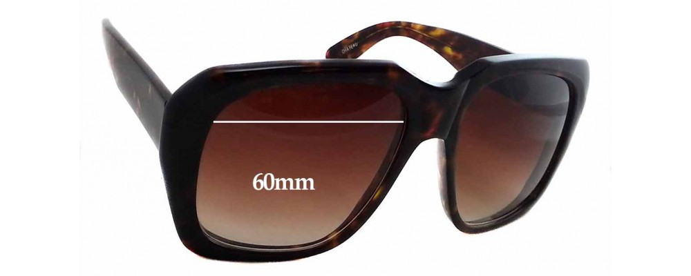 66f92c1bac Kala Chateau Replacement Sunglass Lenses - 60mm Wide