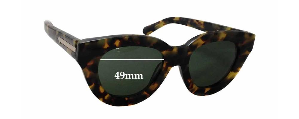Karen Walker Anytime New Sunglass Lenses - 49mm wide x 44mm tall