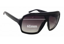 Ksubi Old Replacement Sunglass Lenses - 61mm wide x 47mm tall