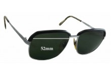 L'AMY Yannick Replacement Sunglass Lenses - 52mm Wide - 46mm Tall