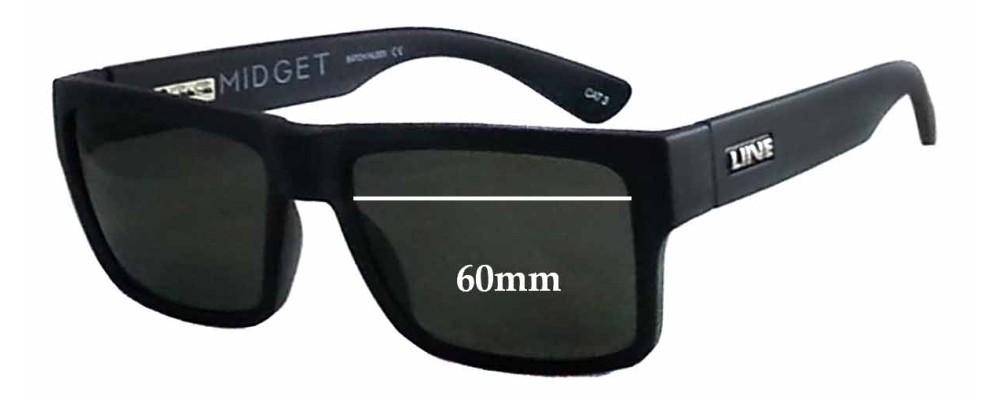 LIIVE Midget Replacement Sunglass Lenses - 60mm wide