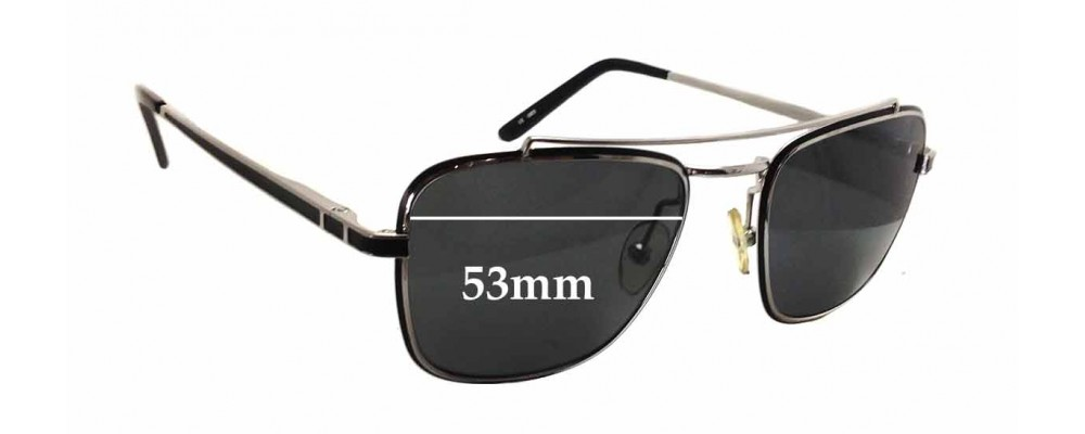Linda Farrow LUXE Replacement Sunglass Lenses - 53mm wide x 43mm tall