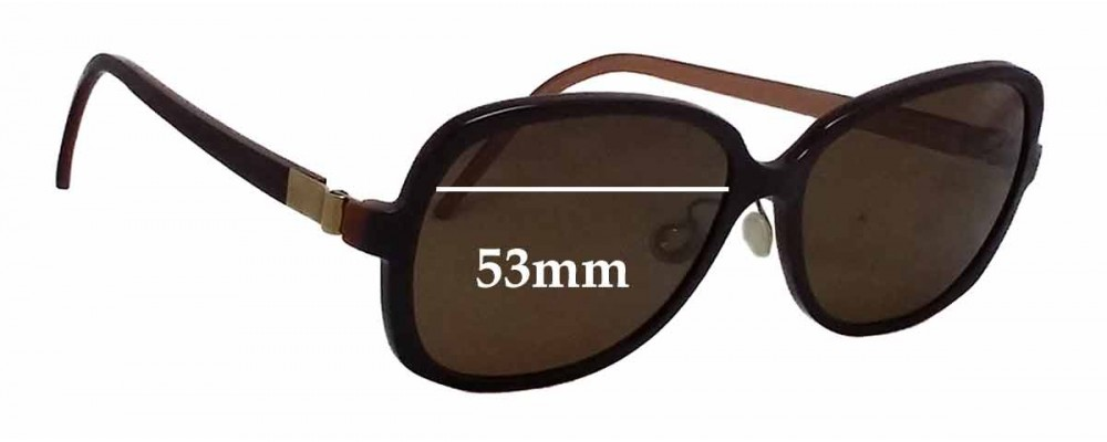 Lindberg T94-125-8559 Replacement Sunglass Lenses - 53mm wide