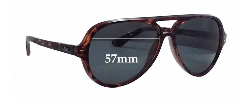 Local Supply Airport Replacement Sunglass Lenses - 57mm wide