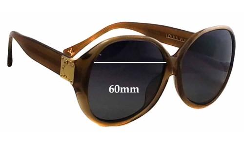 Louis Vuitton Z0283E Replacement Sunglass Lenses - 60mm wide
