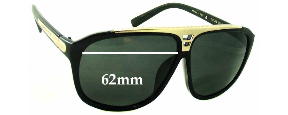 f3a80d9d62bb Louis Vuitton Evidence Millionaire Z0105W Replacement Sunglass Lenses -  62mm wide