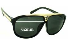 Louis Vuitton Evidence Millionaire Z0105W Replacement Sunglass Lenses - 62mm wide